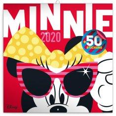 Poznámkový kalendář Minnie 2020 s 50 samolepkami