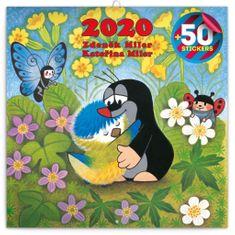 Poznámkový kalendář Krteček 2020 s 50 samolepkami