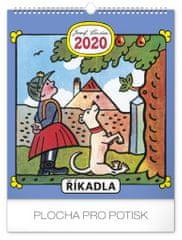 Nástěnný kalendář Josef Lada – Říkadla 2020