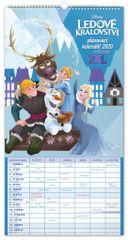 Nástěnný kalendář Rodinný plánovací XXL – Ledové království 2020