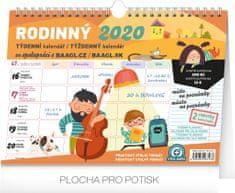 Týdenní rodinný plánovací kalendář s háčkem 2020