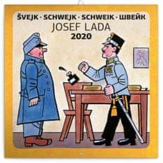 Poznámkový kalendár Švejk – Josef Lada 2020, 30 x 30 cm
