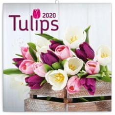 Poznámkový kalendář Tulipány 2020
