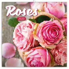 Poznámkový kalendář Růže 2020