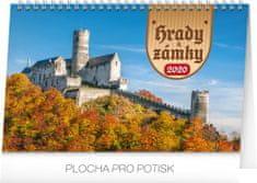 Stolní kalendář Hrady a zámky CZ 2020, 23,1 x 14,5 cm