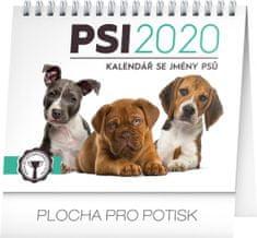 Stolní kalendář Psy – se jmény psů CZ 2020, 16,5 x 13 cm, 16,5 x 13 cm