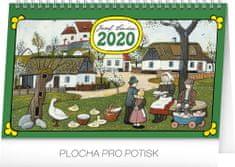 Stolní kalendář Josef Lada – Tradice a zvyky CZ 2020, 23,1 x 14,5 cm