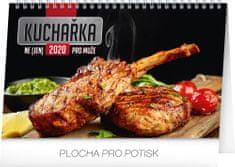 Stolní kalendář Kuchařka (ne)jen pro muže CZ 2020, 23,1 x 14,5 cm