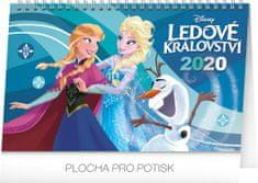 Stolní kalendář Frozen – Ledové království CZ 2020, 23,1 x 14,5 cm