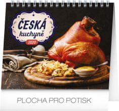 Stolní kalendář Česká kuchyně CZ 2020, 16,5 x 13 cm