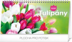Stolový kalendár Tulipány riadkový SK 2020, 25 x 12,5 cm