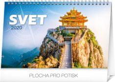 Stolový kalendár Svet SK 2020, 23,1 x 14,5 cm
