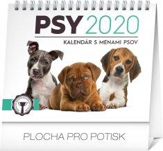 Stolový kalendár Psy – s menami psov SK 2020, 16,5 x 13 cm