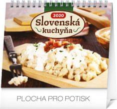 Stolový kalendár Slovenská kuchyňa SK 2020, 16,5 x 13 cm