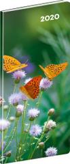 Kapesní diář Motýle SK 2020 plánovací měsíční