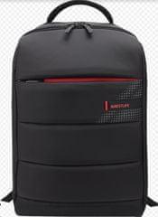 BESTLIFE CPlus Black ruksak za 15,6″ (39,6 cm) BL-BB-3335BK prijenosno računalo, crno-crveno