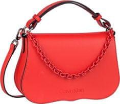 Calvin Klein Dámska kabelka Americana Shoulder Process Red