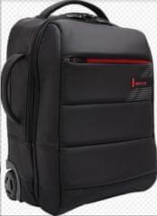 BESTLIFE CPlus Black nahrbtnik s koleščki za 15,6″ (39,6 cm) prenosnik BL-BB-3335BK, črno-rdeč