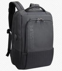 """BESTLIFE plecak Neoton z zabezpieczeniem na laptopa 15,6"""" BL-BB-3401, czarny"""