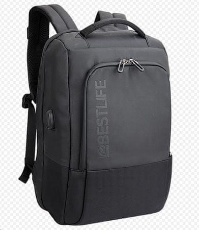 BESTLIFE Neoton nahrbtnik z varovalom za 15,6″ (39,6 cm) prenosnike BL-BB-3401, črn