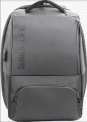 """BESTLIFE Batoh Neoton s poistkou na 15,6"""" notebook BL-BB-3401G-1, šedý"""