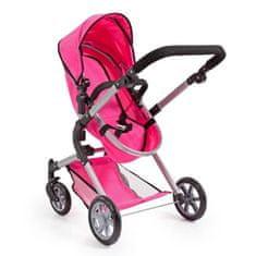 Bayer City Neo kočárek pro panenky s taškou před rameno, růžová