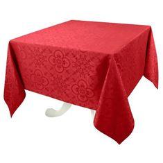 Vent Du Sud čtvercový ubrus - červený, 168 x 168 cm