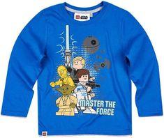 TVM Dětské tričko Lego Star Wars Master the force bavlna modré Velikost: 116 (6 let)
