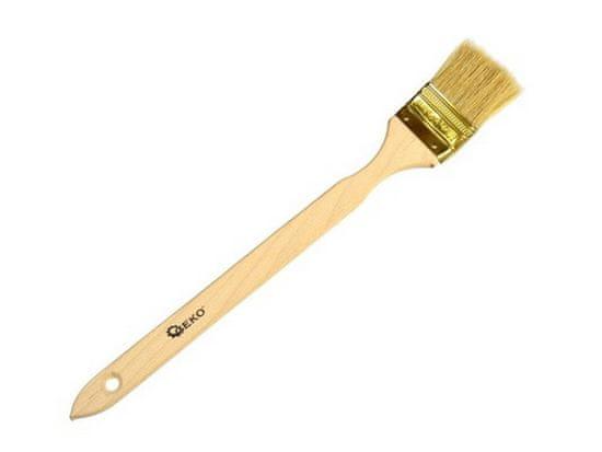 GEKO Štětec šikmý, 63 mm, dřevěná rukojeť