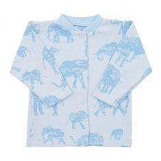 BABY SERVICE Dojčenský kabátik Baby Service Slony modrý 56 (0-3m) Modrá