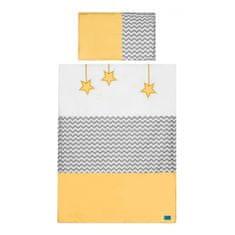 BELISIMA 2-dielne posteľné obliečky Belisima Hviezdička 100x135 žlté Žltá