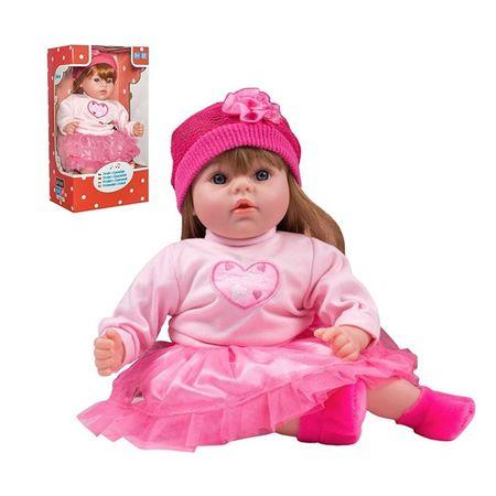 PLAYTO Česky hovoriaca a spievajúca detská bábika PlayTo Tina 46 cm Ružová