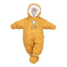 NEW BABY Zimná kombinéza 2v1 New Baby horčicová 68 (4-6m) Žltá