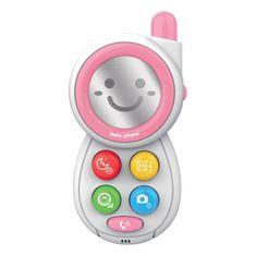 Baby Mix Detská hračka so zvukom Baby Mix Telefónik pink Ružová
