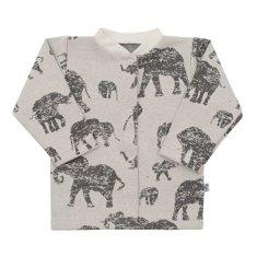 BABY SERVICE Dojčenský kabátik Baby Service Slony sivý 56 (0-3m) Sivá
