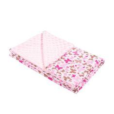 NEW BABY Detská deka z Minky New Baby ružová 80x102 cm Ružová