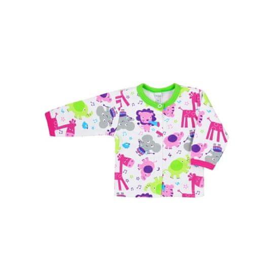 BOBAS FASHION Dojčenský kabátik Bobas Fashion Zoo zelený pre dievčatá 80 (9-12m) Zelená