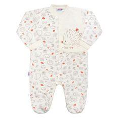 NEW BABY Dojčenský bavlnený overal New Baby Hedgehog béžový 74 (6-9m) Béžová