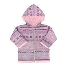 BABY SERVICE Zimný dojčenský kabátik Baby Service Etnik zima ružový 68 (4-6m) Ružová