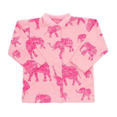 BABY SERVICE Dojčenský kabátik Baby Service Slony ružový 68 (4-6m) Ružová