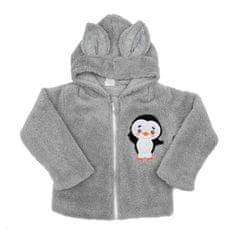 NEW BABY Zimná detská mikina New Baby Penguin sivá 80 (9-12m) Sivá