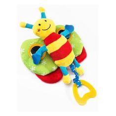 Sensillo Edukačná plyšová hračka Sensillo motýlik s pískatkom Žltá