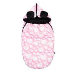 NEW BABY Luxusný fusak New Baby Srdiečka Ružová