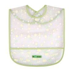 AKUKU Detský podbradník s kapsičkou Akuku zelený s bublinkami Zelená