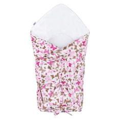 NEW BABY Klasická šnurovacia zavinovačka New Baby ružové motýle Ružová