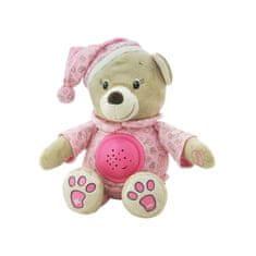 Baby Mix Plyšový zaspávačik medvedík s projektorom Baby Mix ružový Ružová