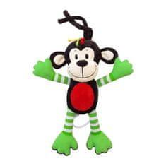 Baby Mix Detská plyšová hračka s hracím strojčekom Baby Mix opice zelená Hnedá