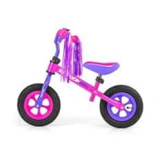 MILLY MALLY Detské odrážadlo kolo Milly Mally Dragon Air pink Ružová
