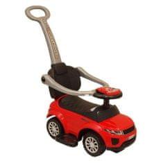 Baby Mix Detské hrajúce vozítko 3v1 Baby Mix červené Červená