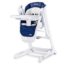 Caretero Detská jedálenská stolička 2v1 Caretero Indigo navy Modrá